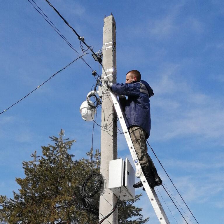 Монтаж камер в Саратове, установка видеонаблюдения
